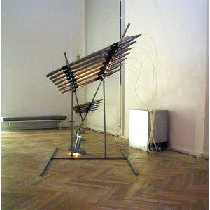 Air Beat 2001, lydinstallation, Göteborg Konstmuseum / Charlottenborg København. Præmieret af Statens Kunstfond.