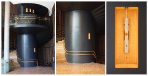 Klokkespil 2011, en permanent udsmykning over fire etager i Lørenskog Kulturhus Norge. De ialt 12 klokker i trappeopgangen spiller 10 minutter pr halve time i åbningstiden.
