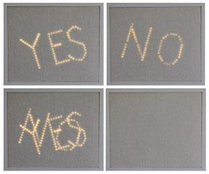 Yes-No, lysbillede i fire stadier 2014